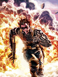 Winter Soldier No.4 Cover: Winter Soldier Escaping an Explosion Wall Decal by Lee Bermejo