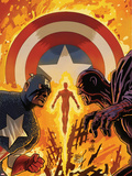 Captain America and Bucky No.628 Cover: Captain America Fighting Plastic Sign by Francesco Francavilla