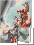 Avengers Annual No.1 Cover: Iron Man and Wonder Man Fighting Wood Print by Gabriele DellOtto