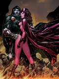 Avengers: The Childrens Crusade No.7 Cover: Scarlet Witch and Dr. Doom Standing Together Art by Jim Cheung