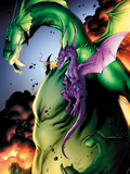 Avengers vs. Pet Avengers No.2: Fin Fang Foom and Lockheed Flying Plastic Sign by Ig Guara