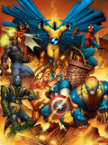 The New Avengers No.1 Cover: Spider-Man Wall Decal by Joe Quesada