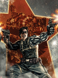 Winter Soldier No.1 Cover with Captain America Plastic Sign by Lee Bermejo