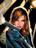 Black Widow No.2 Cover: Black Widow Charging Plastic Sign by Greg Land