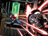Avengers: X-Sanction No.1: Captain America Shooting at Cable Plastic Sign by Ed McGuinness