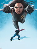 Avengers Academy No.23 Cover: X-23 Flying and Mettle Outstretched Plastic Sign by Rodin Esquejo