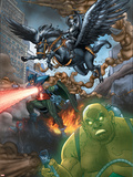 Avengers: Earths Mightiest Heroes No.3 Group: Black Knight Plastic Sign by Scott Kolins