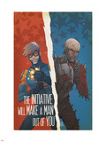 Avengers: The Initiative No.29 Cover: Speedball and Penance Plastic Sign by Matteo De Longis