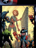 Marvel Adventures The Avengers No.29 Cover: Captain Marvel Plastic Sign by Sean Murphy