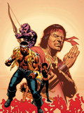 House Of M: Avengers No.2 Cover: Cage, Luke, Hawkeye and Shang-Chi Swinging Wall Decal by Mike Perkins
