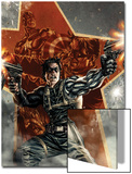 Winter Soldier No.1 Cover with Captain America Posters by Lee Bermejo