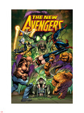 New Avengers No.16.1 Cover: Green Goblin, Luke Cage, Thing, Spider-Man, Norman Osborn, and Others Plastic Sign by Neal Adams