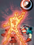 Captain America & The Korvac Saga No.3 Cover: Korvac Posing with Captain America's Shield Plastic Sign by Craig Rousseau