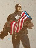 Captain America V4, No.23 Cover: Captain America Plastic Sign by Dave Johnson