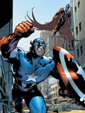 Captain America And The Falcon No.12 Cover: Captain America and Falcon Plastic Sign by Trevor Hairsine