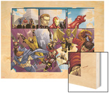 Avengers: The Initiative No.8 Group: Sentry Wood Print by Stefano Caselli