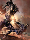 Dark Avengers No.9 Cover: Ares and Nick Fury Plastic Sign by Mike Deodato