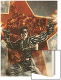 Winter Soldier No.1 Cover with Captain America Wood Print by Lee Bermejo