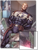 Steve Rogers: Super-Soldier Annual No.1: Panels with Steve Rogers Standing Poster by Ibraim Roberson