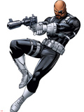 Nick Fury with a Gun Plastic Sign