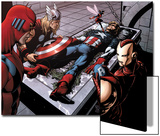 Avengers Finale No.1 Group: Captain America, Giant Man, Iron Man, Thor and Wasp Posters by Neal Adams