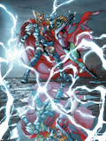 Avengers: The Initiative No.18 Cover: Thor Girl and Ultragirl Plastic Sign by Mark Brooks