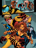 Avengers Academy No.4: Tigra, Justice, Speedball, and Wasp Walking Plastic Sign by Mike McKone