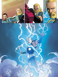 Ultimate Comics Ultimates No.3: Thor Flying in Lightining and Energy Plastic Sign by Esad Ribic