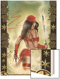 Elektra No.33 Cover: Elektra Wood Print by Tom Fleming