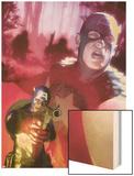 Captain America No.603 Cover: Captain America Wood Print by Gerald Parel
