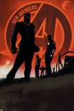 New Avengers 1 Cover: Black Panther Plastic Sign by  Jock