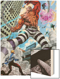 Avengers Academy No.7: Absorbing Man Fighting Print by Mike McKone