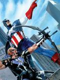 Captain America and Hawkeye No.629 Cover: Captain America and Hawkeye Plastic Sign by Gabriele DellOtto