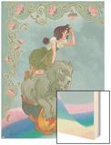 Avengers Fairy Tales 4 Cover: Avengers Wood Print by Ricardo Tercio