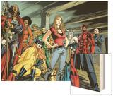 New Avengers No.59 Group: Doctor Voodoo Wood Print by Stuart Immonen