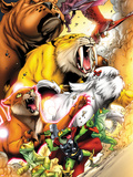 Avengers vs. Pet Avengers No.1: Throg, Zabu, Lockjaw, Lockheed, Redwing, Hairball, and Ms. Lion Plastic Sign by Ig Guara