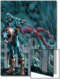 Captain America & The Falcon No.14 Cover: Captain America Prints by Dan Jurgens