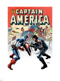 Captain America No.14 Cover: Captain America and Bucky Wall Decal by Steve Epting