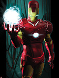 Ultimate Comics Ultimates No.3 Cover: Iron Man with Energy Plastic Sign by Kaare Andrews
