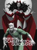 Avengers Origins: The Scarlet Witch & Quicksilver No.1 Cover Plastic Sign by Marko Djurdjevic