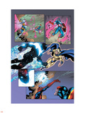 New Thunderbolts No.14 Group: Photon, Sentry, Captain America and Songbird Wall Decal by Tom Grummett