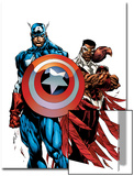 Captain America & The Falcon No.1 Cover: Captain America and Falcon Prints by Bart Sears