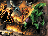 Avengers vs. Pet Avengers No.1: Fin Fang Foom Fighting Plastic Sign by Ig Guara