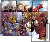 Avengers: The Initiative No.8 Group: Sentry Art by Stefano Caselli