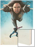 Avengers Academy No.23 Cover: X-23 Flying and Mettle Outstretched Wood Print by Rodin Esquejo