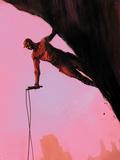 Daredevil: Reborn No.3 Cover: Daredevil Climbing Wall Decal by  Jock