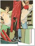 Daredevil: Reborn No.4: Matt Murdock, Froggy Nelson Wood Print by Davide Gianfelice