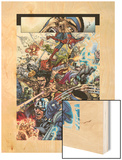 Avengers: The Initiative No.19 Group: Spider-Man, Crusader, Captain America, Wolverine and Thor Wood Print by Harvey Tolibao
