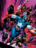 New Avengers No.12 Cover: Captain America Plastic Sign by David Finch
