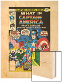 What If 5 Cover: Captain America and Red Skull Flying Wood Print by George Tuska